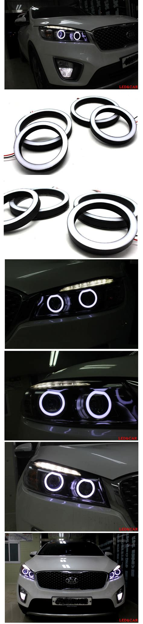 nearest motor vehicle l lights white led surface emitting circle eye for