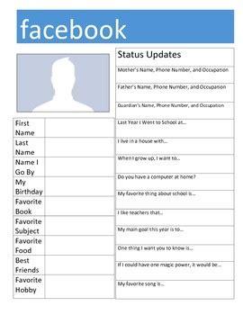 kindergarten activities getting to know you facebook quot get to know you quot activity by fumbling thru fifth