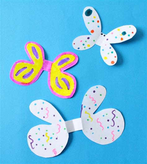 Preschool Crafts For Easy Butterfly by Easy Butterfly Craft Ring Fantastic Learning