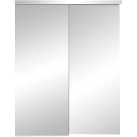 Truporte Closet Doors by In Steel White Sliding Mirror Bypass Door 347523 On Popscreen