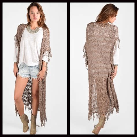 pattern maxi cardigan free people long cardigan crochet maxi vest nwt vests
