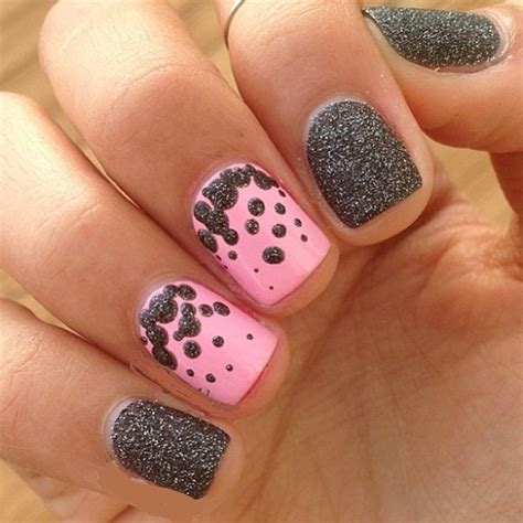 Easy Nail Art Using Glitter | latest 50 simple glitter nail art designs to go with