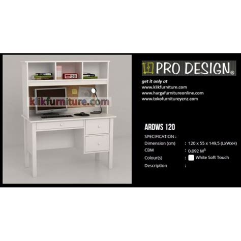 Meja Komputer Pro Design ardws 120 pro design meja komputer dan belajar