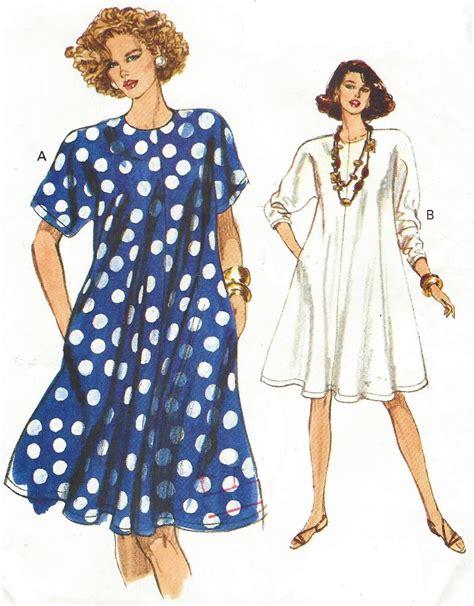90s swing 90s womens swing dress dolman sleeves easy vogue