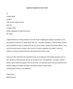 Cover Letter For Application Form by Sle Apartment Application Form 9 Free Documents In Pdf