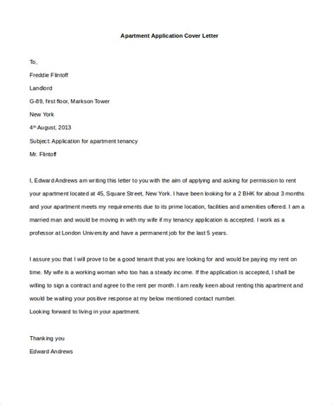 cover letter apartment application cover letter templates