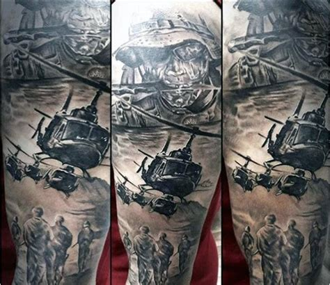 army tattoo sleeve designs 90 army tattoos for manly armed forces design ideas