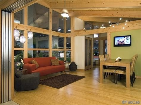 fabcab brings sustainable prefabs to seattle home show fabcab timbercab 550m prefab home modernprefabs