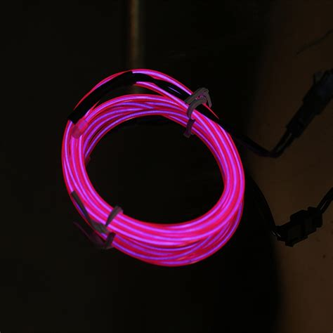 Neon Light El Wire 1m colorful el wire rope neon light glow car decor fw ebay