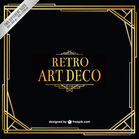 deco templates retro deco background vector free