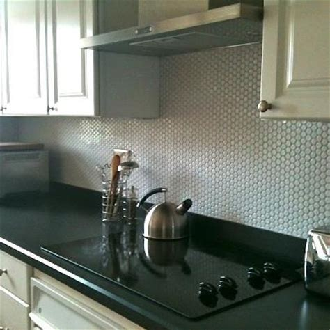 penny tile kitchen backsplash 1000 images about penny round tiles and hexagons on