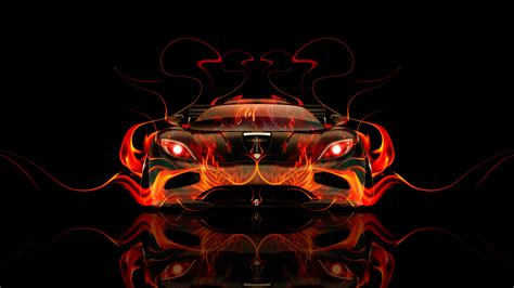 Koenigsegg Agera Front Fire Abstract Car 2014 El Tony