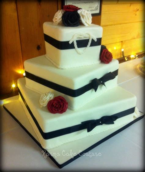 Wedding Cake Gum by Square 3 Tier Wedding Cake With Gumpaste Roses