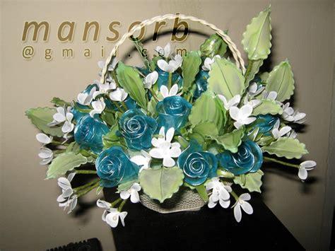 Kotak Akrilik Bunga Mawar Biru Preserved Flower Bunga Dip Jambangan Bunga Dip Biru