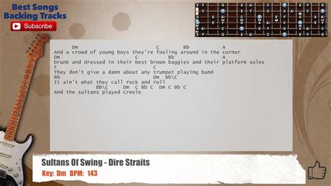 sultans of swing backing sultans of swing dire straits guitar backing track with