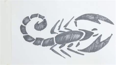 tattoo tribal how to draw how to draw scorpion tribal tattoo
