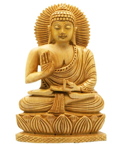 Yoga Inspired Home Decor hand carved wood sitting buddha statue