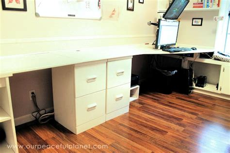 Large Home Office Desk How To Build A Simple Large Surface Home Office Desk