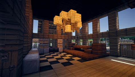 Minecraft Home Interior Minecraft Wooden House Render