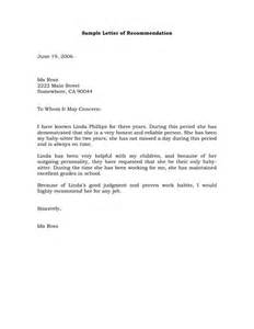 example of letter of recommendation custom college papers