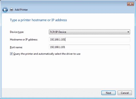 Printer Ip Address Lookup Windows 10 Install Printer Via Ip Address