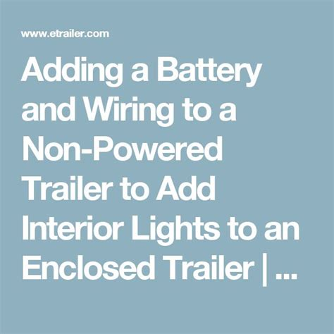 adding lights to trailer best 20 trailer light wiring ideas on rv led