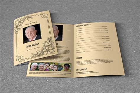 funeral brochure template funeral program template t618 brochure templates