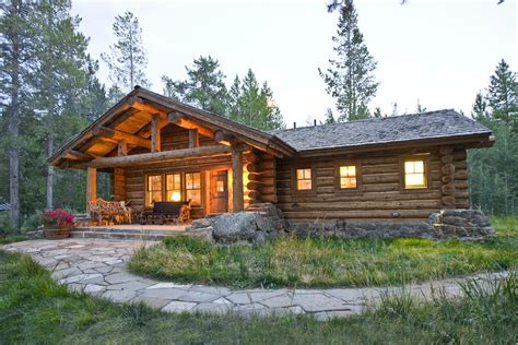 wood cabin homes lost creek cabin teton heritage builders