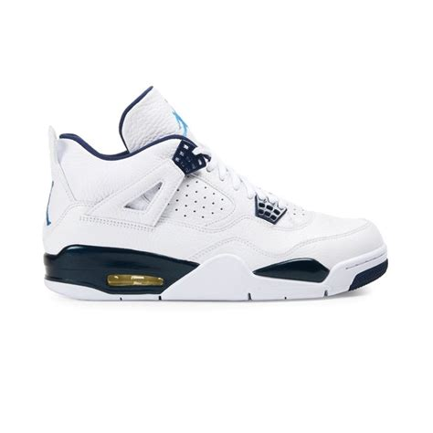 navy blue and white ls jordan air jordan 4 retro ls white legend blue midnight