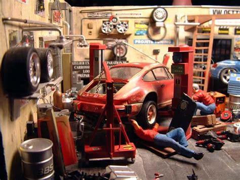 Motorrad Garage Solothurn by Auto Garage Diorama 1 18 Kaufen Verkauf Auto Garage