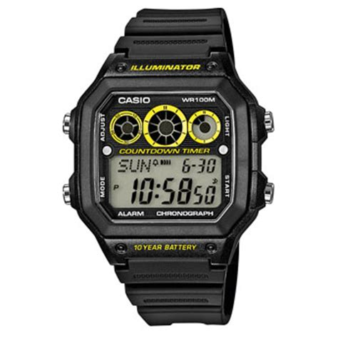 Casio Illuminator Ae 1200whd 1avdf casio collection montres produits casio