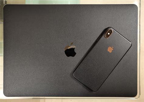 leather black skin  macbook pro  iphone xs max mac