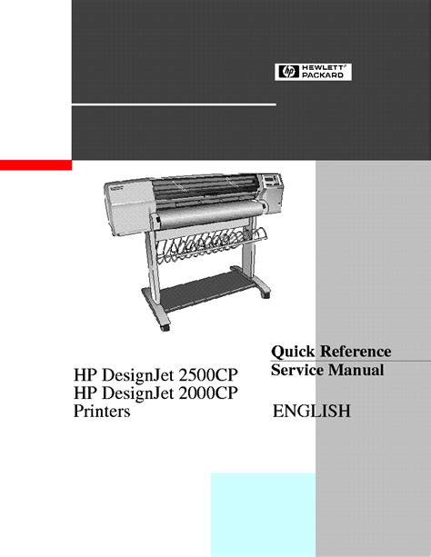 Hp Designjet 500 500ps 800 800ps Service Manual Service