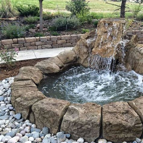 backyard water features pond waterfalls swimming pool