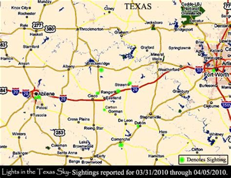 strawn texas map ufos lights in the texas sky another report for 03 31 2010 lights east of cisco
