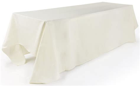 rectangular tablecloth 132 quot ivory linen
