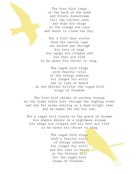 singing and swinging maya angelou why the caged bird sings poem google search poetry