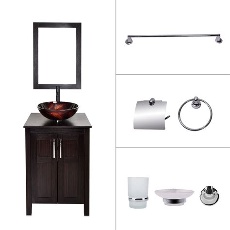 bathroom vanity sink combo bathroom vanity cabinet 24 vessel sink faucet mirror