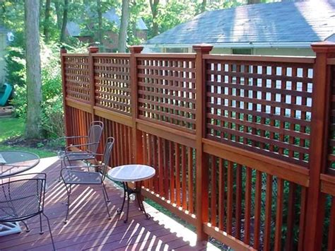 tub lattice privacy fence woodworking projects plans