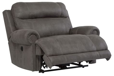 wide power recliner austere gray zero wall wide seat power recliner from