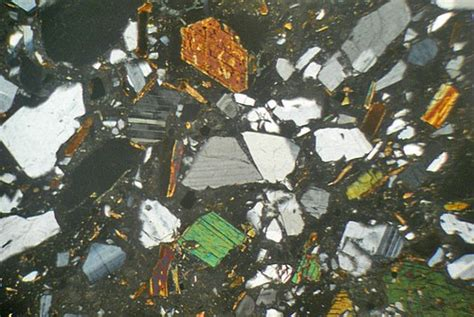 tuff thin section fish canyon tuff colorado usa thin section microscope