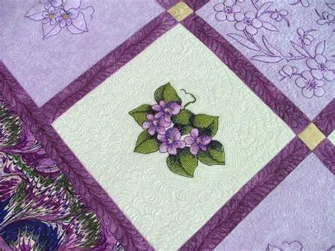 Violet Quilt by Violets Table Topper Quilt Advanced Embroidery Designs