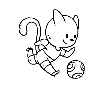 imagenes de futbolistas faciles para dibujar dibujo de gato jugando a f 250 tbol para colorear dibujos net