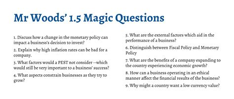 section 3 business ib business management magic questions section 1