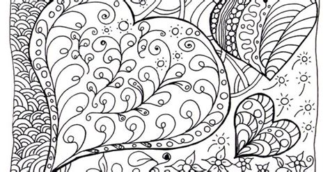 zen heart intricate doodle coloring pages  adults