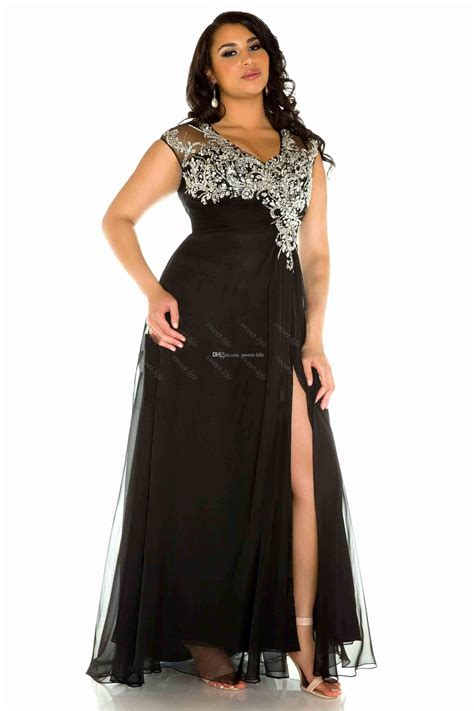 black prom dress size 20 2015 sexy plus size evening gowns black v neck tulle