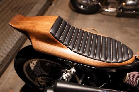 formed wooden motorcycle seat the handbuilt show in
