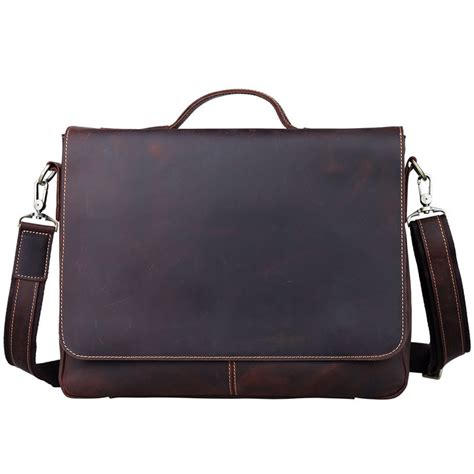 Handmade Leather Briefcases - handmade vintage leather briefcase leather messenger bag