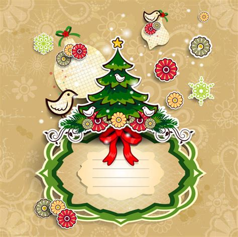 design free christmas cards christmas cute greeting cards design vector 07 vector