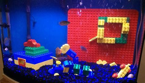 diy aquarium decorations diy lego aquarium decor petdiys